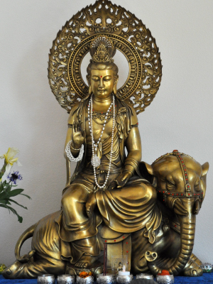 This Kuan Yin in the aspect of Samantabhadra came from China and is a beautiful presence in the Kuan Yin Room