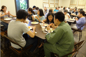 The Osettai Potluck after the Obon (Welcoming Ancestors) service on July 13, 2014