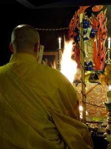 Goma fire ritual, a Vajrayana practice. (Photo by Tommy Johnsen )