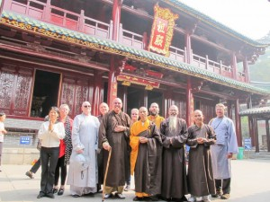 With head monk at Nanhua Zen Temple