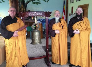 Ven.Kozen, Koro Kaisan Miles and Fa Hsing Jeff Miles, at Mt. Adams Zen Temple in Washington state