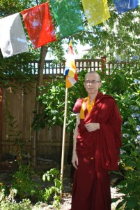 Although his body was wasted by liver cancer in the latter years of his life, Losang Tsering never diminished his active dharma practice