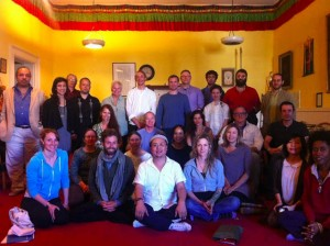 Dr. Nida with Traditional Tibetan Medicine Bay area sangha, March, 2014