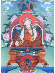 Yuthok thangka with Medicine Buddha