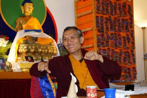 Yangsi Rinpoche, DFF's current spiritual director, also president of Maitripa College in Portland, at a 2012 DFF event