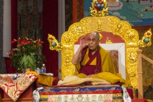 The Dalai Lama emphasized study as a key part of Buddhist practice