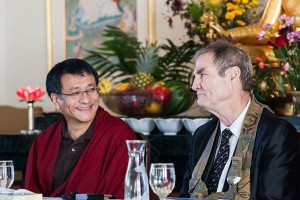 Dzogchen Ponlop Rinpoche, and Zen teacher John Tarrant Roshi, at the 10th anniversary event at Nalanda West