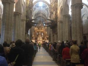 Mass for pilgrims at the Santiago de Compostela