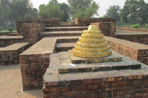 Sravasti is where the Buddha lived for 24 rains retreats and gave most of his most famous talks. These ruins mark where his hut once was