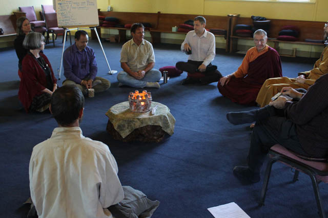 Teachers from around Portland sat together and discussed many subjects, including supporting Mahasangha