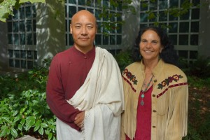 Anam Thubten with event organizer Phyllis Moses