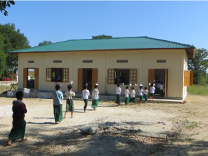 The new classroom building at Thein Kone, Myanmar.