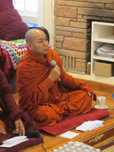 Sayadaw Nandathaya, from Myanmar, is the abbot of the temple.