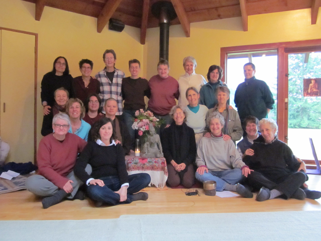 Lotus sisters at the Whidbey Island retreat.