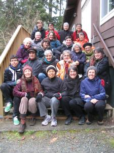 Lotus sisters at Vashon Island, 2012.