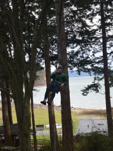 Climbing trees was part of the practice.