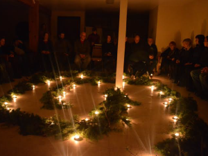 A ceremony during the retreat.