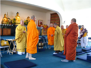 Monks gather at the 2014 Vesak in Seattle.
