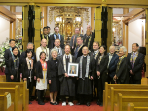 Friends, family and Buddhist colleagues gathered at the memorial service at Seattle Betsuin, on Feb. 7.