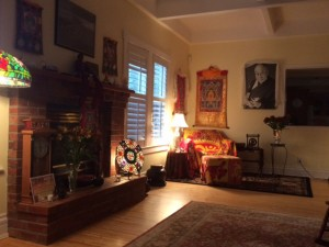 The Chenrezig Project's gonpa, or shrine room, is in Winwood's Monroe home