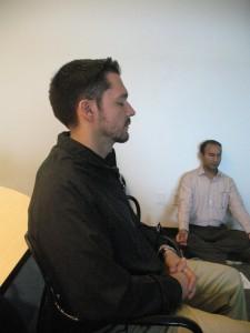 Jay Marquardt at weekly meditation