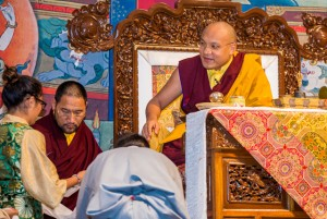 Nearly everyone from the Tibetan community gathered for teachings with the Karmapa, in Lynnwood