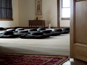 The meditation room door is open to all