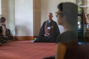 Eshin Godfrey, guiding teacher of Zen Centre of Vancouver, leading the morning Zen workshop