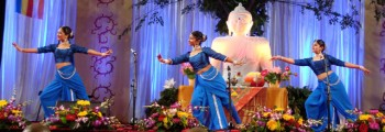 Sri Lankan dancers demonstrate traditional dance