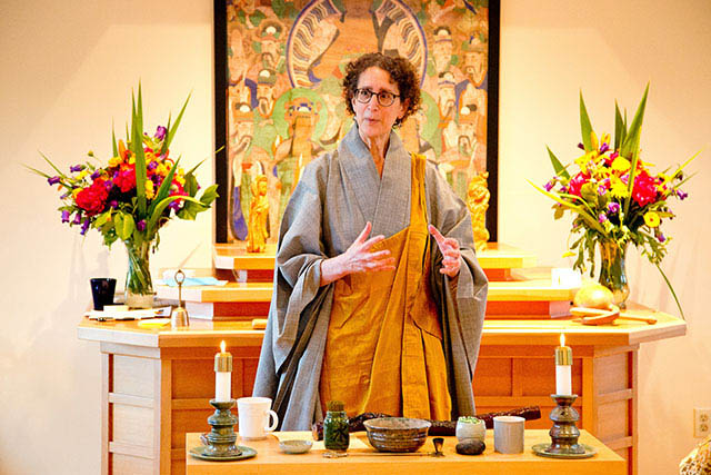 Zen Master Jeong Ji, shortly after receiving dharma transmission, shares the wisdom of her lineage with Blue Heron sangha