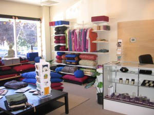 The store showcases a variety of cushions