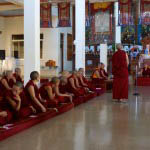 Much of the two weeks of exams was conducted in the presence of other monastics