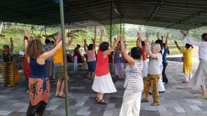 Tara Dhatu dancers practiced the mandala dance daily
