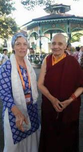 Jetsuma Tenzin Palmo, president of Sakyadhita, with author Kim Abbey