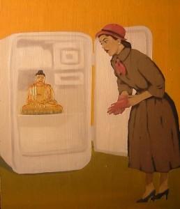 buddha fridge