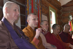 Tan Suhajjo (center) from Pacific Hermitage, shares his reflections in the closing circle