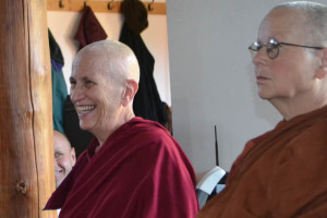 Venerable Chodron (left), and Ayya Sobhana from Dhammadarini Vihaar in California