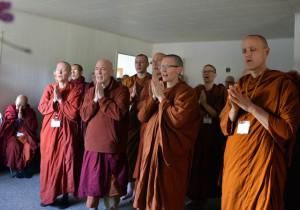 Theravada monastics chant their blessings