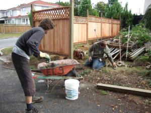 Gardening is a traditional form of practice in Japanese Zen. We needed to do plenty of practice