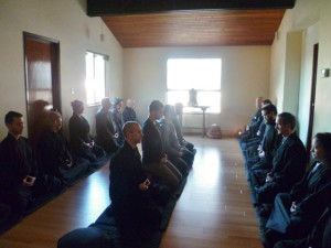 The result has been gratifying. We have a beautiful place to practice. Here we are in sesshin, a week long silent, residential retreat
