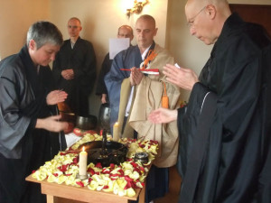 We have the space now for a variety of ceremonies and forms of practice. Here we are celebrating Buddha's birthday