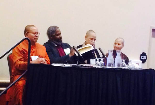 Four Northwest Buddhists led a panel entitled Spectrum of Buddhist Traditions in the Northwest Corner