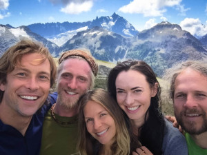 Radiant smiles after summiting Hannegan's Peak during a Wake Up backpacking retreat, in the North Cascades in August. Left to right: David Viafora, Dylan Sympson, Vanessa Loucky, Mercia Moseley and Ed Wayt