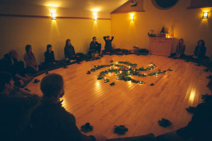 The last evening of the Wake Up Retreat was the 'Be-In' which included tea meditation, musical performances, dancing, and sitting meditation