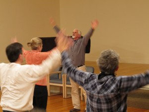 A Qi Gong class, part of the training offered by Cascadia Mindfulness Institute