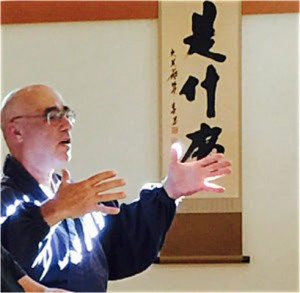 Genjo Marinello Osho, abbot of Chobo-Ji Zen Practice Center and sometime chef with the 100 Meals cooking crew