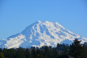 The Graham center is overshadowed by the majesty of Mt. Rainier