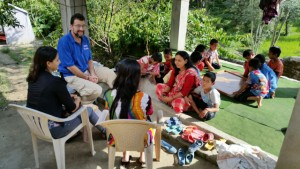 Me plus our PFN team meeting with a children's Home in September. The orphanage, run by a Nepali woman nicknamed Mommy, was one of the first orphanages we enrolled in the program