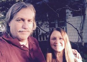 Mark Winwood and his fiancé Kathy Adams