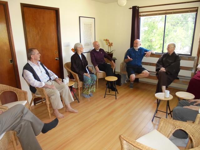 Eshin Godfrey (Zen Centre of Vancouver), Bethan Lloyd and Jeanie Seward Magee (Mindfulness Practice Community of Vancouver), Jerry Chapman (Vancouver Shambhala), Dayasiddhi and Upakarin (Triratna)